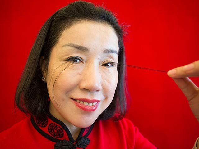 This Woman's Eyelids are 8 Inches Long