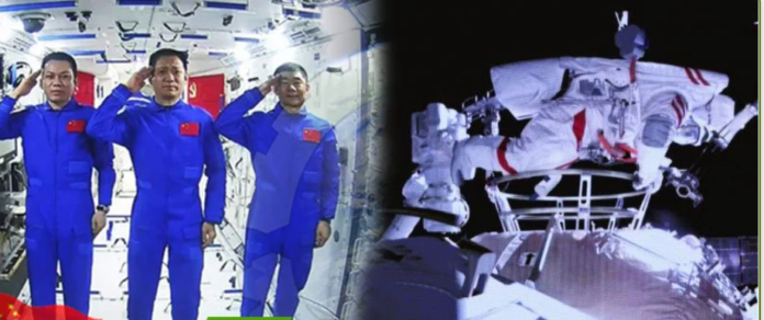 Chinese Astronauts Walk In Space For 7 Hours